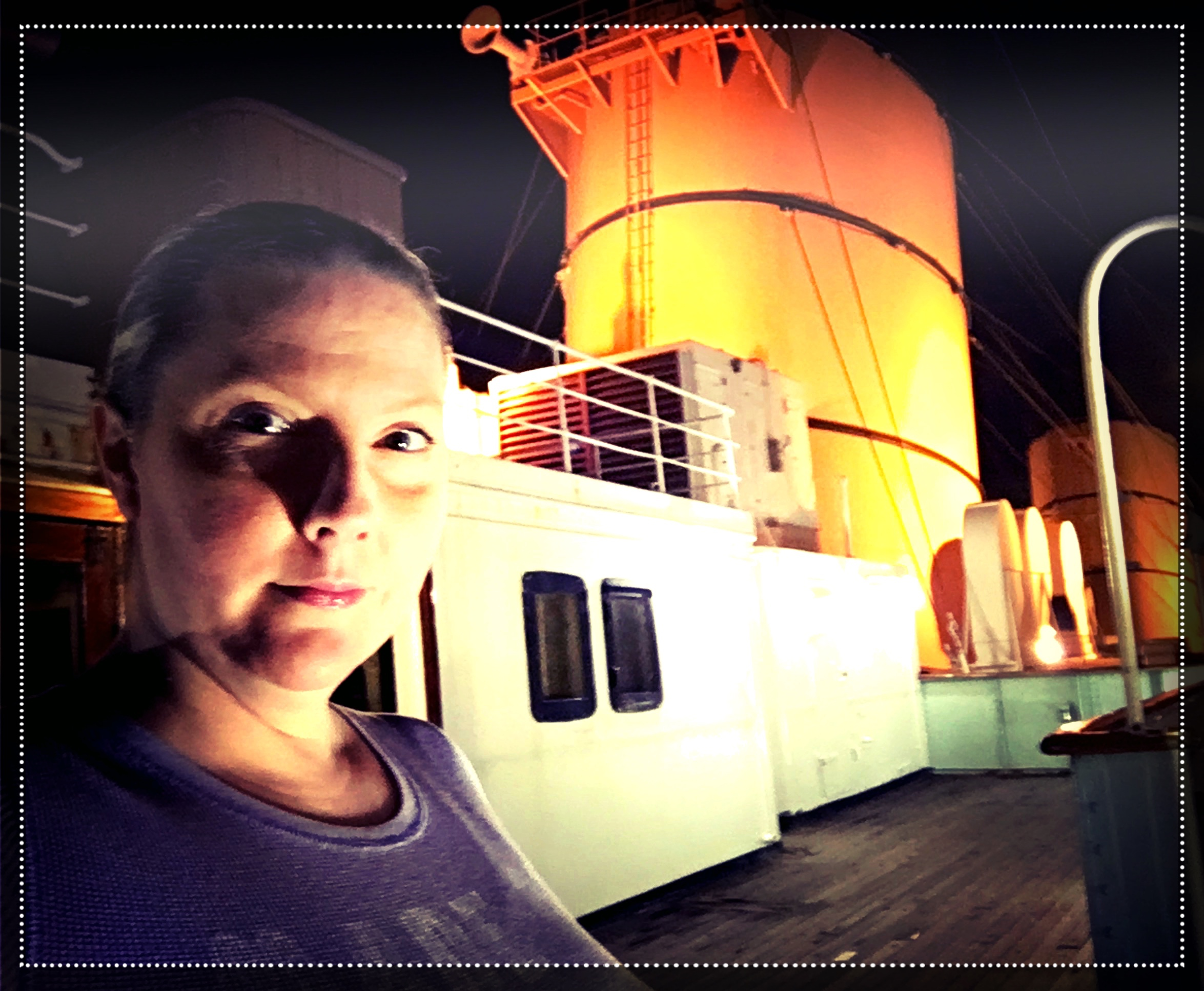 Queen Mary Melissa on deck